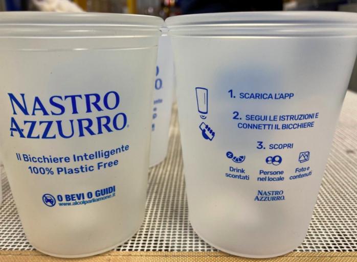 Genbrugskrus i silikone og med logo